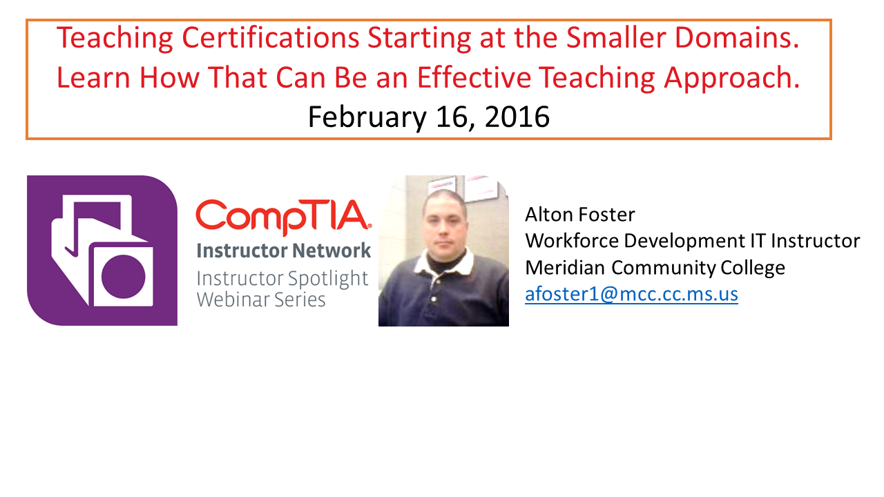 Teaching Certifications Starting at the Smaller Domains. Learn How That Can Be an Effective Teaching Approach.