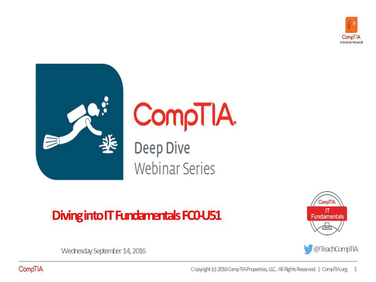 ITF Overview Deep Dive Series