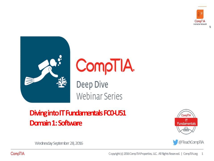 ITF Domain 1: Software Deep Dive Series