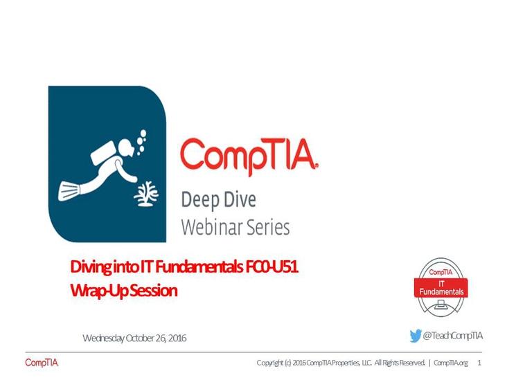 ITF Wrap-up Deep Dive Series