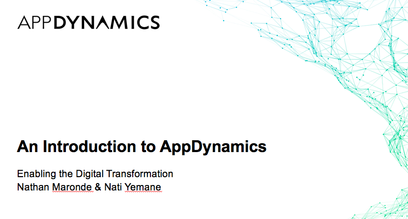 An Introduction to AppDynamics