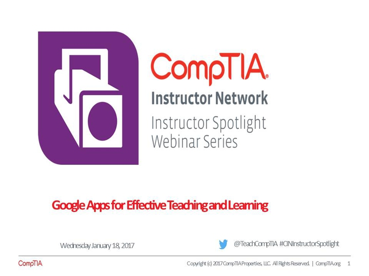 Google Apps for Effective Teaching and Learning