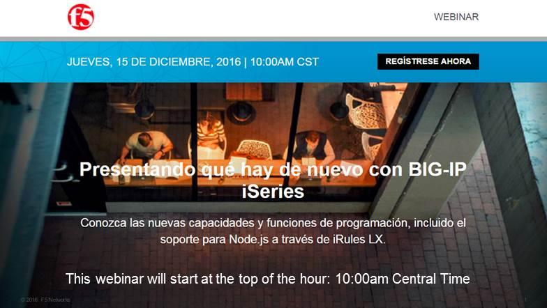 Webinar | Presentando qué hay de nuevo con BIG-IP iSeries