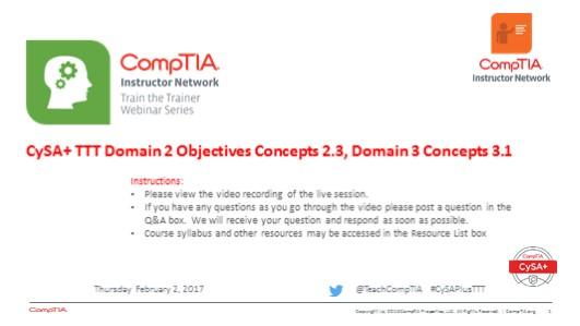 Domain 2 Session 7 - CySA+ TTT