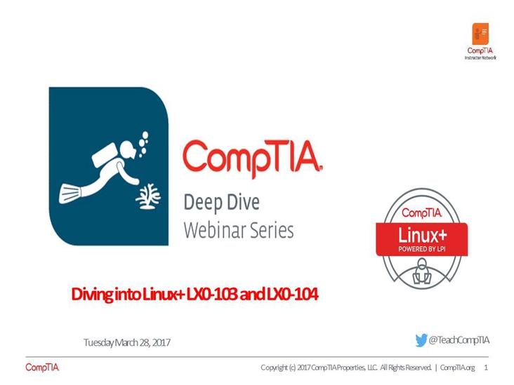 Linux+ Deep Dive - Session 1 Series Introduction