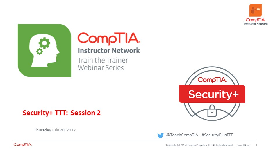Security+ TTT Session 2: Introduction to Security Concepts
