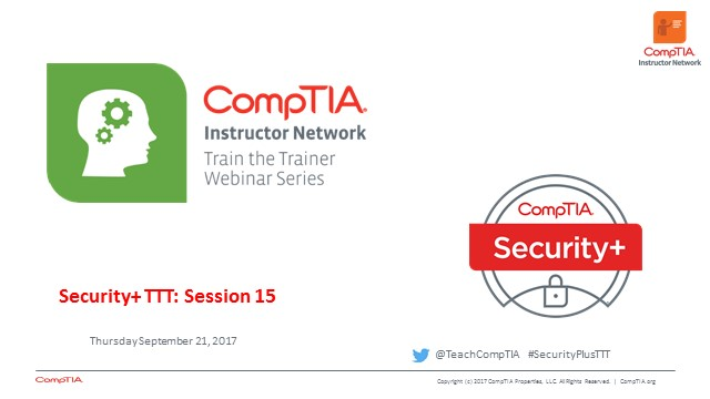 Security+ TTT Session 15: Review and Wrap-up