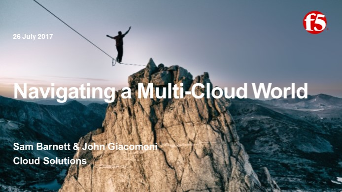 Navigating a Multi-Cloud World Webinar