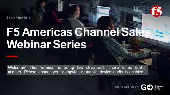 September Channel Webinar - Sales