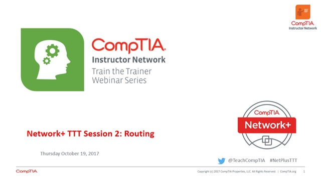 Network+ TTT - Session 2: Routing