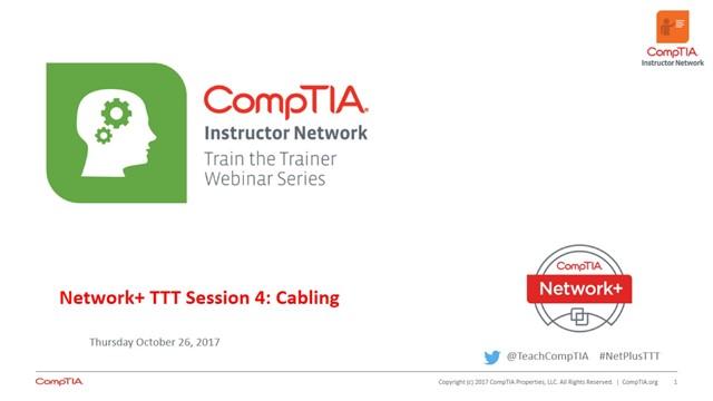 Network+ TTT - Session 4: Cabling