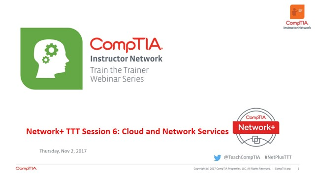 Network+ TTT - Session 6: Cloud