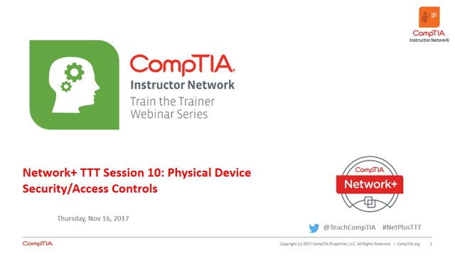 Network+ TTT - Session 10: Access Controls