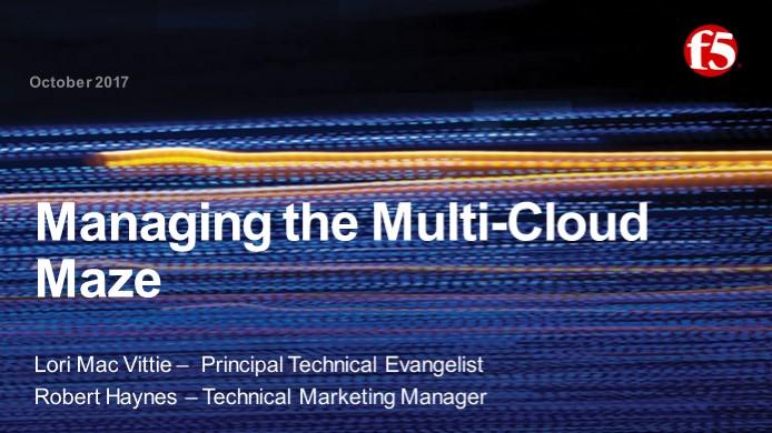 Managing the Multi-Cloud Maze Webinar