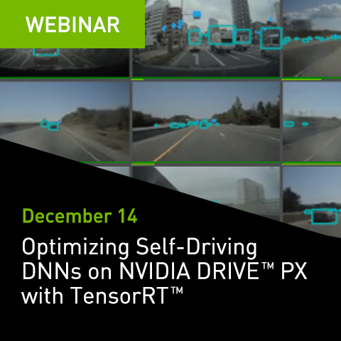 Optimizing Self-Driving DNNs on NVIDIA DRIVE PX with TensorRT