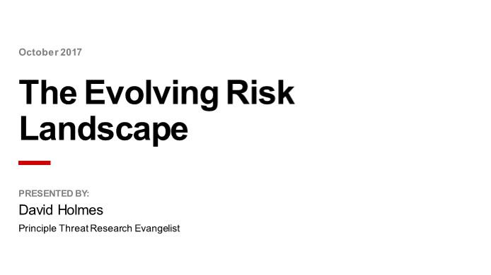 The Evolving Risk Landscape Webinar