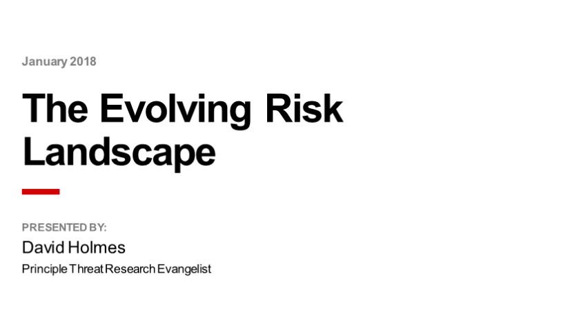 F5 Webinar: The Evolving Risk Landscape
