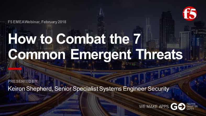 F5 EMEA Webinar February 2018 - English