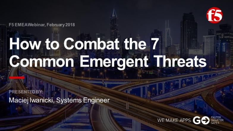 F5 EMEA Webinar February 2018 - Polish