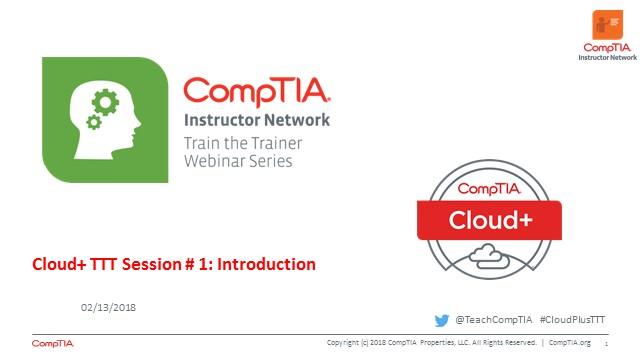 Cloud+ TTT - Session 1: Introduction