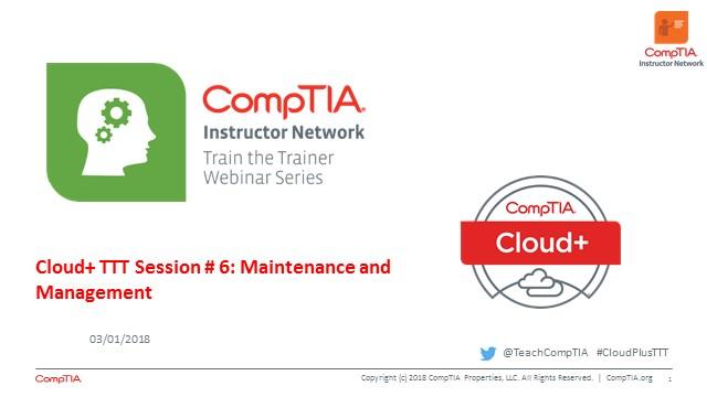 Cloud+ TTT - Session 6:  Maintenance and Management