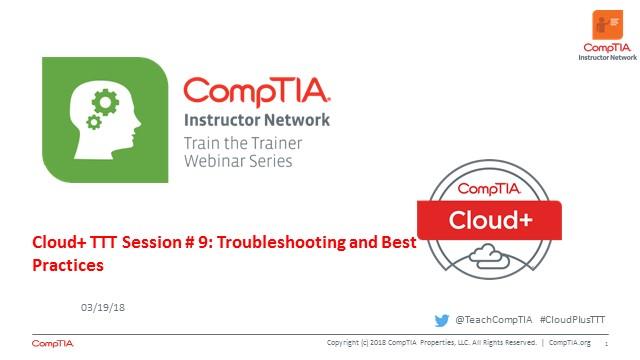 Cloud+ TTT - Session 9:  Best Practices