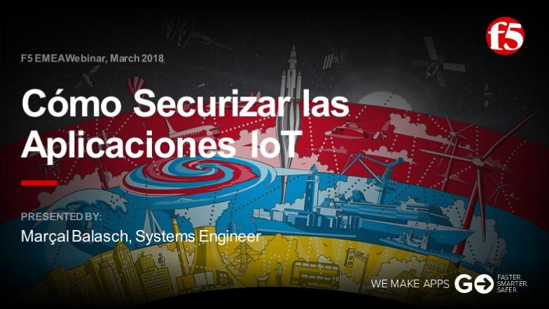 F5 EMEA Webinar March 2018 - Spanish