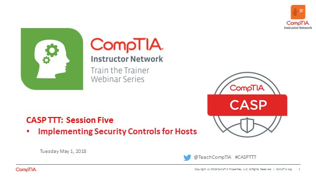 CASP TTT Session 5: Controls for Hosts
