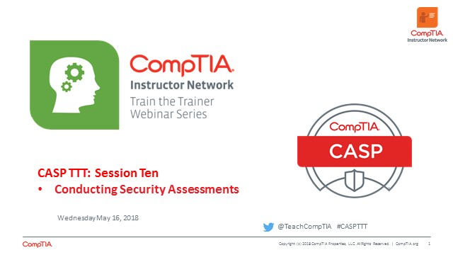 CASP TTT Session 10: Security Assessments