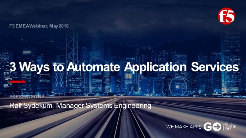 F5 EMEA Webinar May 2018 - German