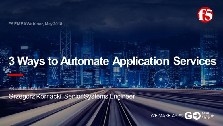 F5 EMEA Webinar May 2018 - Polish