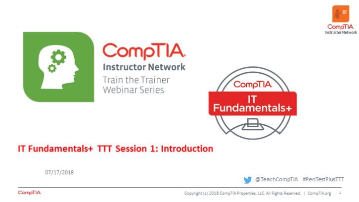 ITF TTT Session 1: Introduction