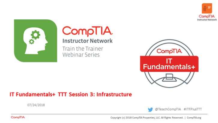 ITF TTT Session 3: Infrastructure