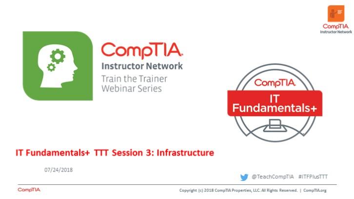 ITF TTT Session 3: Infrastructure