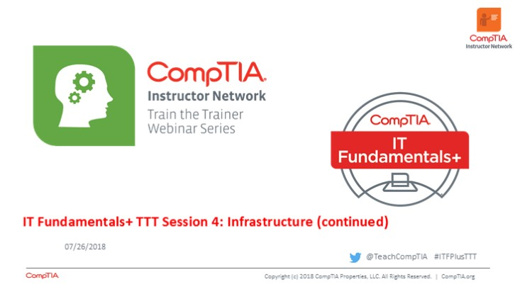 ITF TTT Session 4: Infrastructure Continued