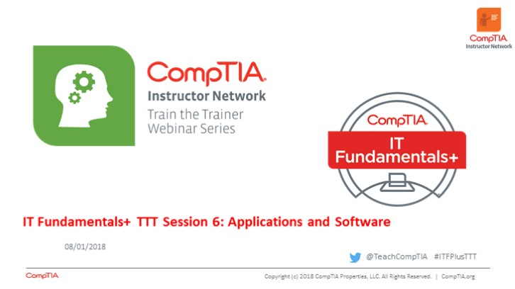 ITF TTT Session 6: Applications and Software Continued