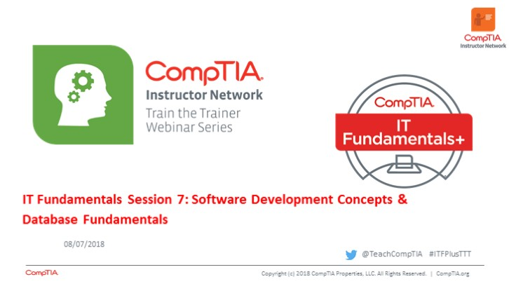 ITF TTT Session 7: Software Development Concepts & Database Fundamentals