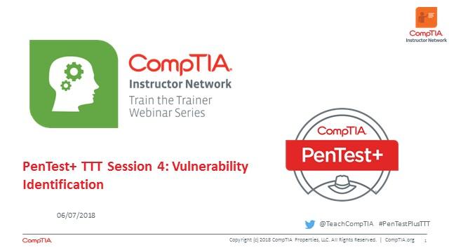 PenTest+ TTT Session 4: Vulnerability Identification