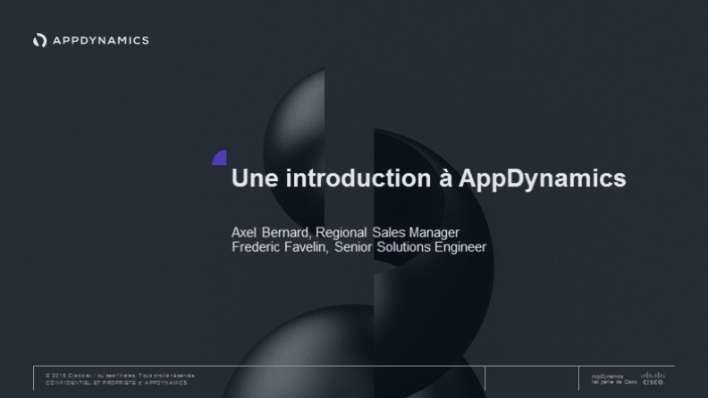 Une introduction à AppDynamics
