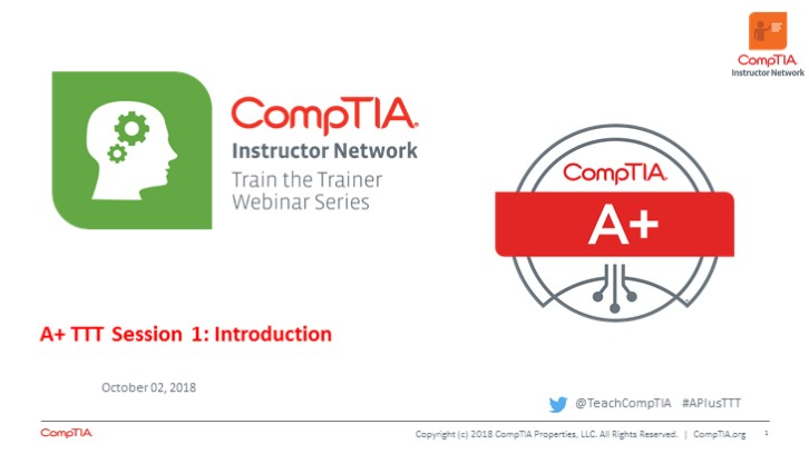 A+ Core 1 TTT Session 1: Introduction