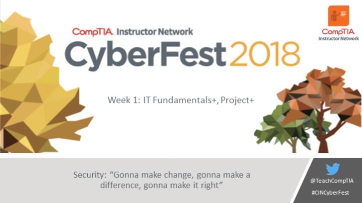 CIN October Cyberfest Series Week 1: Gonna make change, gonna make a difference, gonna make it right