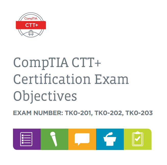 01848 CTT+ Exam Objectives ONLINE