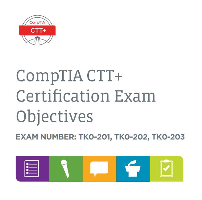 01848 CTT+ Exam Objectives ONLINE