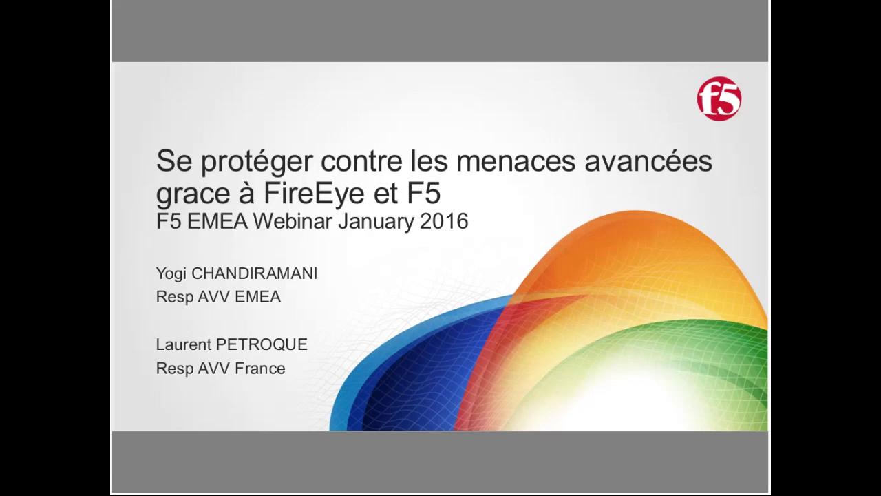 EMEA Webinar January 2016 - French